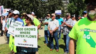 Farmers rally at Capitol as state threatens water rights