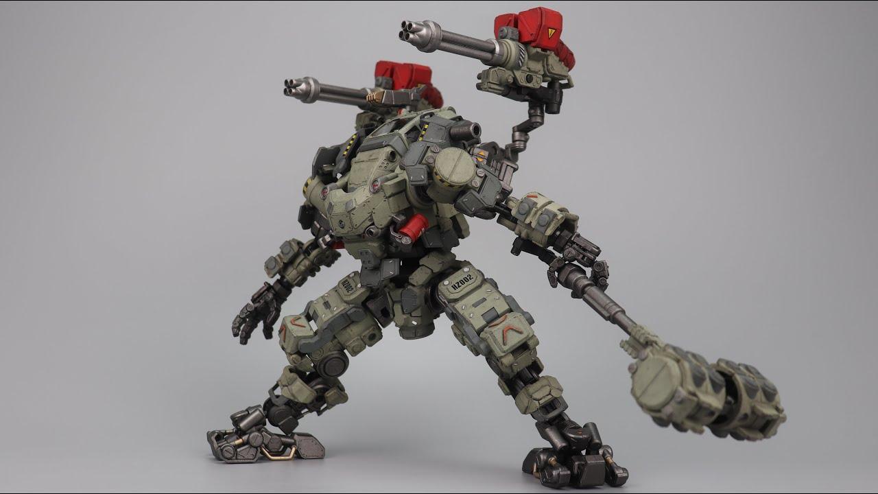 【UNBOXING】JOYTOY暗源 Steel Bone H02 Mecha 钢骨火力机甲 灰绿版