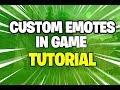CUSTOM EMOTE SOUND IN GAME TUTORIAL (Fortnite Coding)