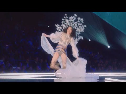 Victoria's Secret model falls on runway in front of millions