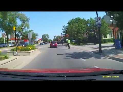 Driving Through Downtown Burlington, Ontario, Canada