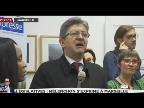 """Conférence presse : JL Mélenchon veut """"renverser l'indigente caste politique à Marseille!! 11/5"""