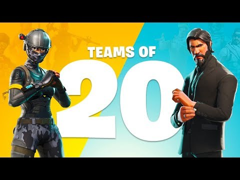 NEW UPDATE!! *TEAMS OF 20 GAME MODE* (Fortnite Battle Royale)