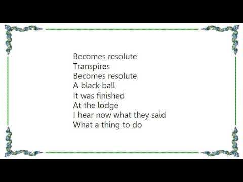 Ikara Colt - At the Lodge Lyrics