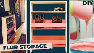 Schuhregal selber bauen | DIY Regal für schmalen Flur