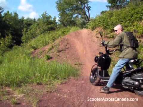 Off Road Scootering Via Honda Ruckus In The Woodlot Amp Pit