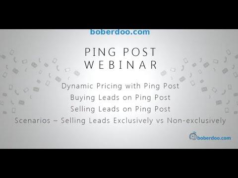 Ping Post Webinar | boberdoo Ping Post Software