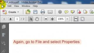 Setting the title and language in a PDF document in Adobe Acrobat Pro