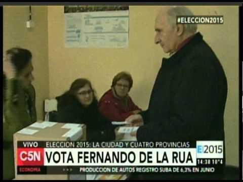 C5N - ELECCION 2015: VOTA FERNANDO DE LA RUA EN LA CIUDAD
