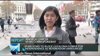 Spain vows to block Catalonia's drive for independence - Angela Garcia reports