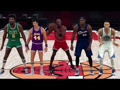 What If The Greatest NBA Legends Played Today? NBA 2K17 Gameplay!