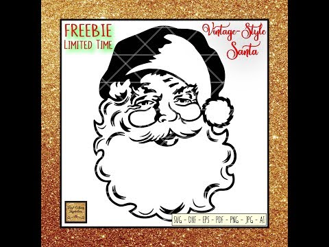 FREE Vintage Santa Svg, DIY Christmas Projects, FREE SVG Files, Cricut Crafts, Cricut Craft Ideas