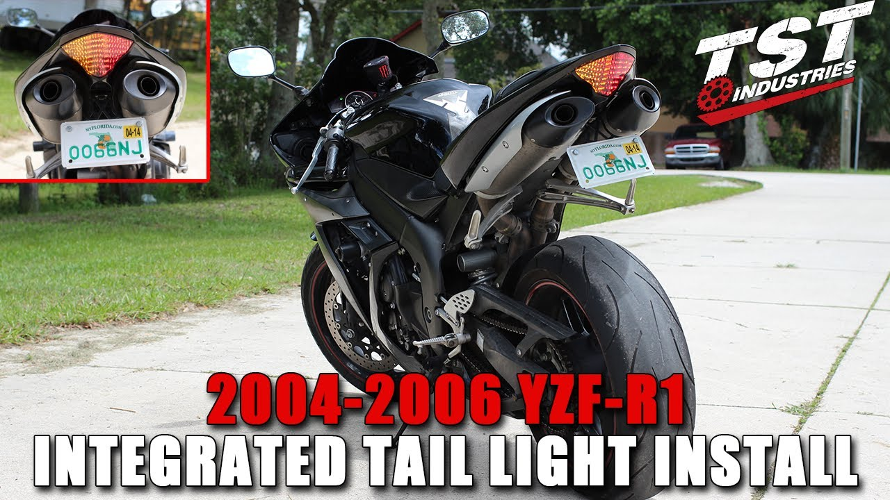 how to 2004 2006 yamaha r1 integrated taillight installation by tst industries youtube [ 1280 x 720 Pixel ]