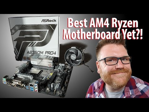 ASRock AM4 AB350 PRO4 Motherboard - Best One Yet? - YouTube