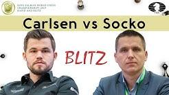 Nice tactics at the end | Carlsen - Socko | World Blitz Championship 2019 |