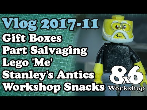 8x6 Workshop Vlog 2017-11 ► Boxes, Salvage Hunt, Stanley's Antics, Workshop Snacks