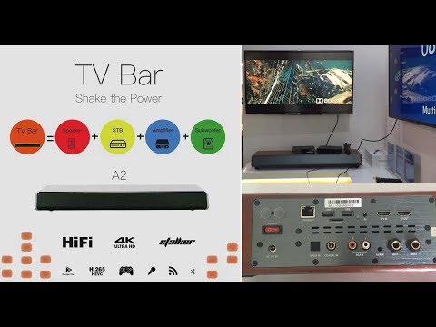 ipremium TV Bar -4K Android 6.0 TV box with Hi-FI Speaker Subwoofer