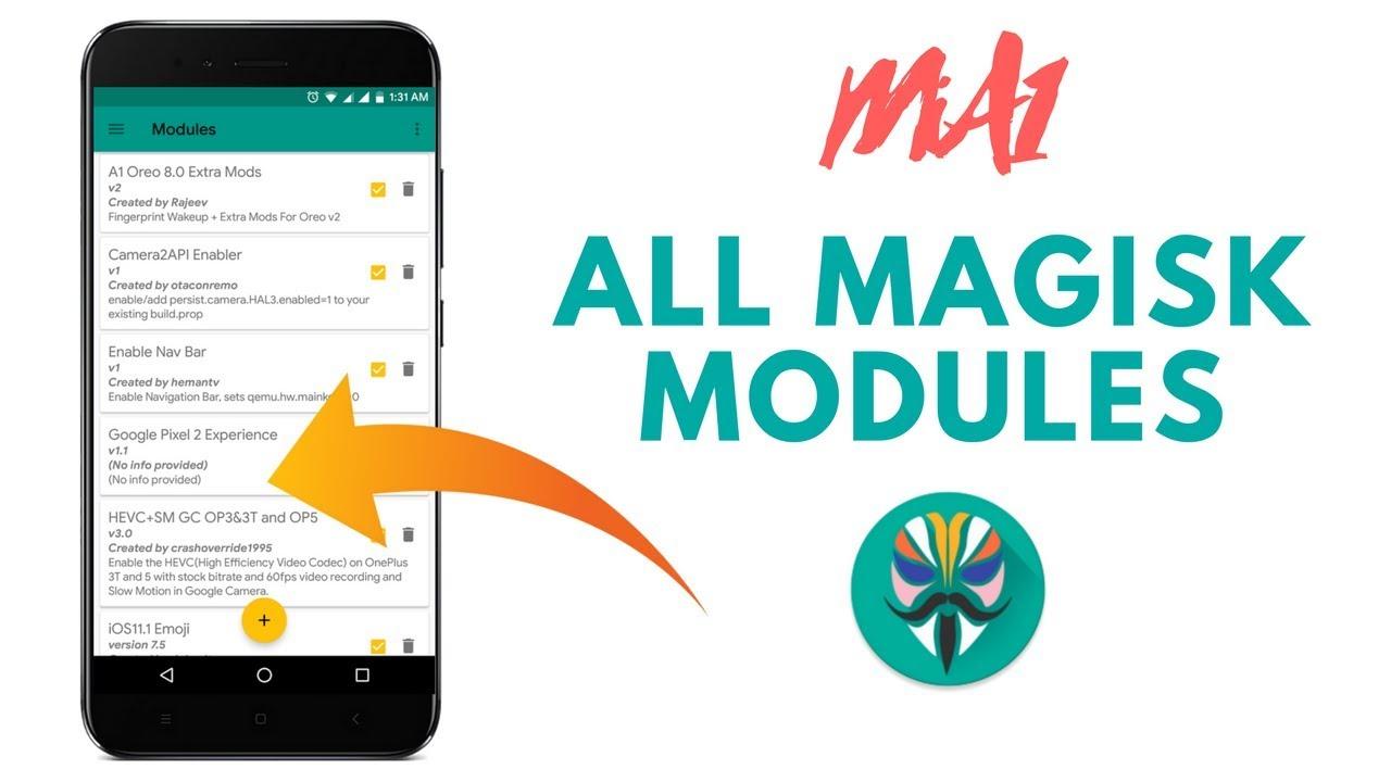 MiA1 All Magisk Modules 2018