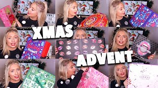 HUGE CHRISTMAS ADVENT HAUL!! Unboxing beauty advent calendars!!😱😍