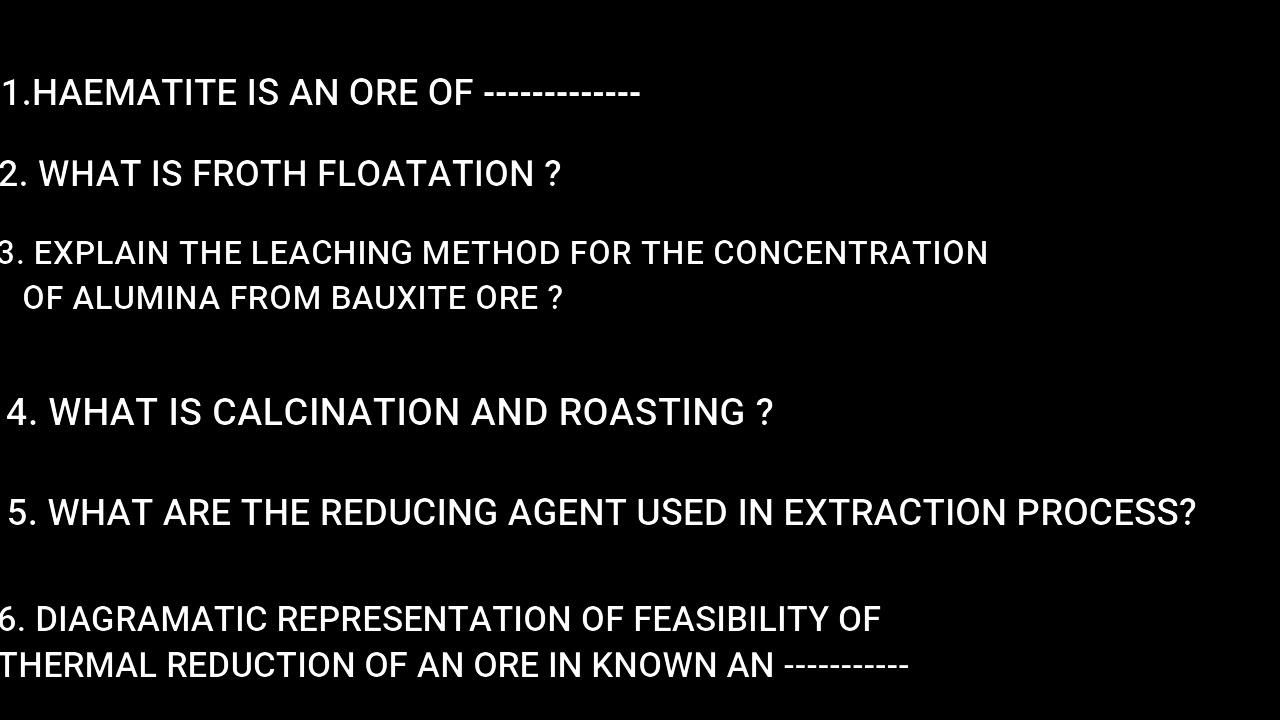 Download chapter 6// general principles and process of isolation of elements//previous questions