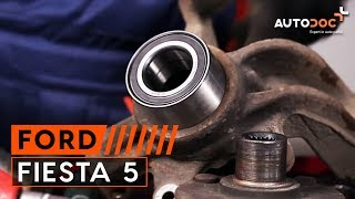How and when to replace Hub bearing rear and front FORD FIESTA V (JH_, JD_): video tutorial