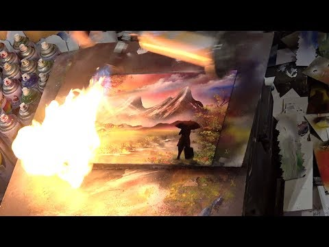 AMAZING SPRAY PAINTING (Art 3D Pictures) Street Performers