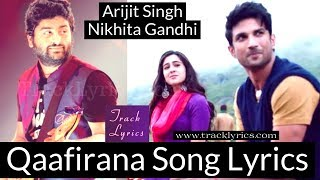 Qaafirana Arijit Singh Lyrics Nikhita Gandhi Sara Sushant Kedarnath