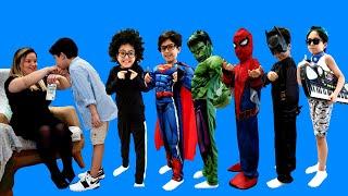 Sado bayram harçlığını beğenmedi !! Sado and Mommy funny kids story about Superheroes