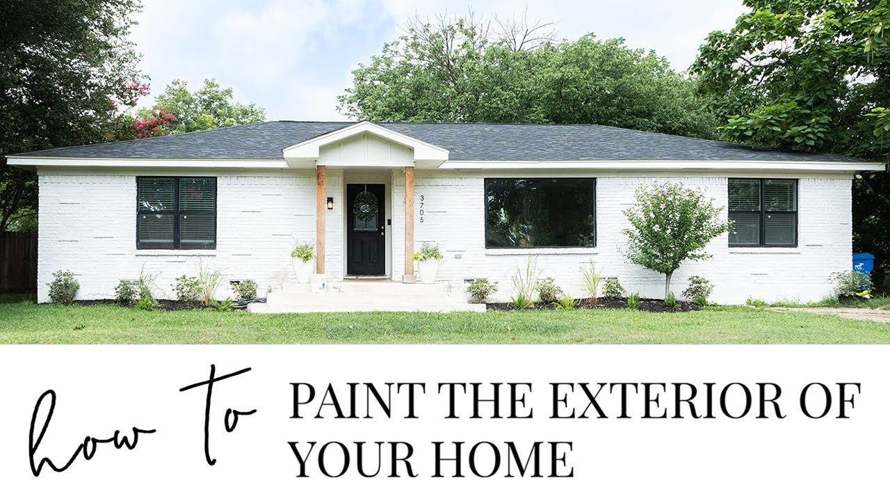 How To Paint The Exterior Of Your Brick Home You