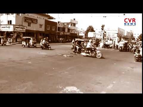 School Bus Hulchal In Vijayawada l Road Mishap At Brts Road In Vijayawada l CVR NEWS