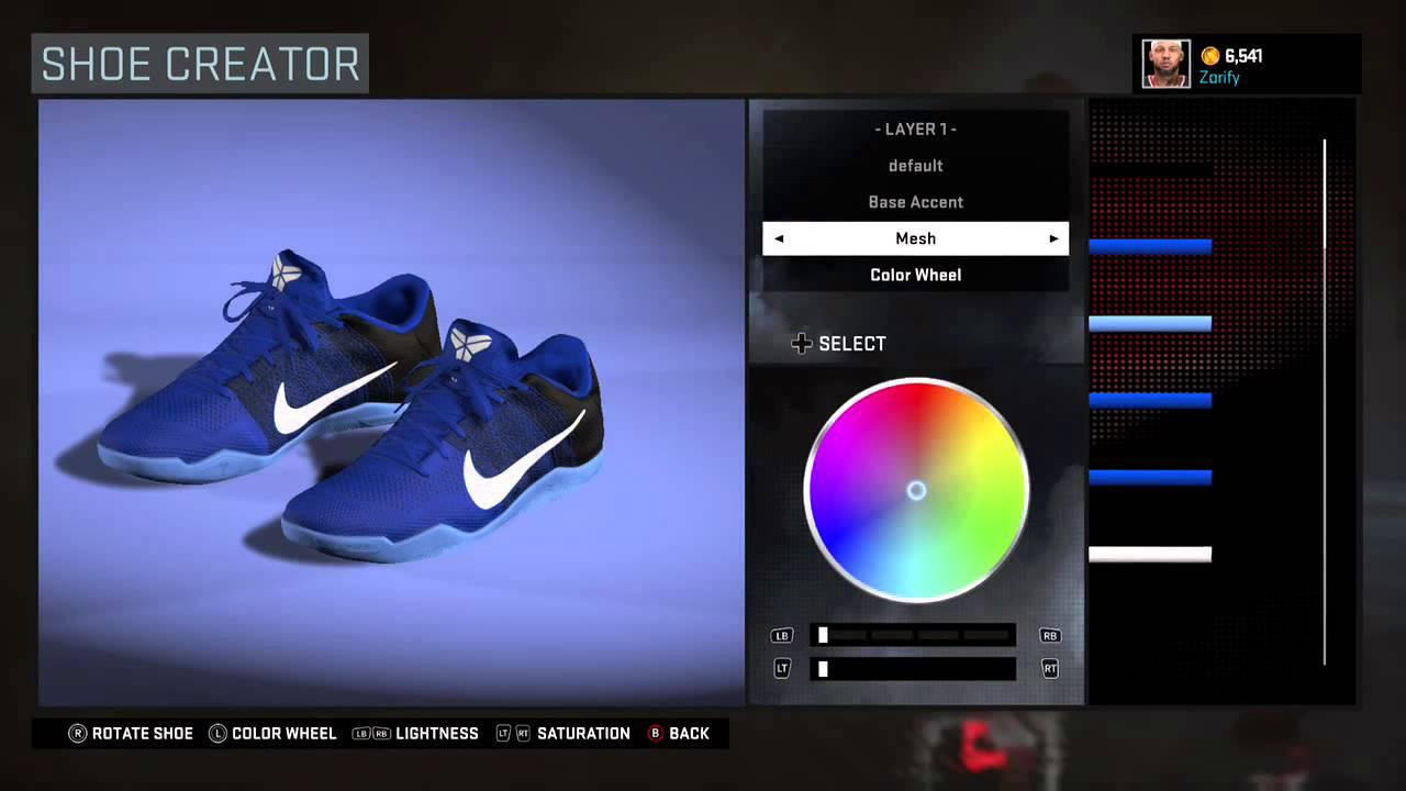 NBA 2K16 Shoe Creator - Nike Kobe 11 PE