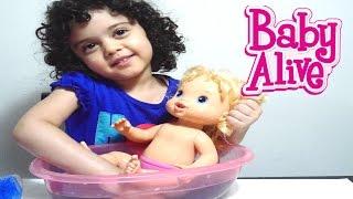 حمام بيبي آلايف Baby Doll Bathtime Baby Alive Girl bath fun toy video