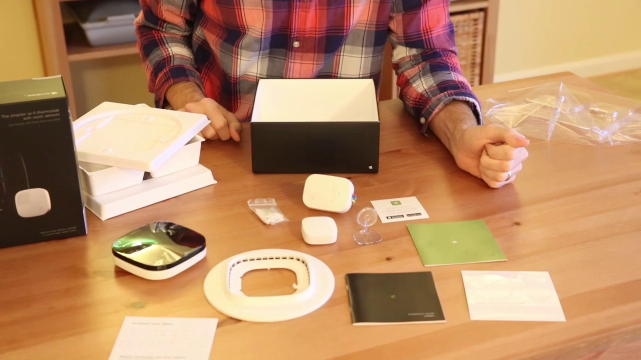 Unboxing Ecobee3 Smart Thermostat With Sensor  Wi