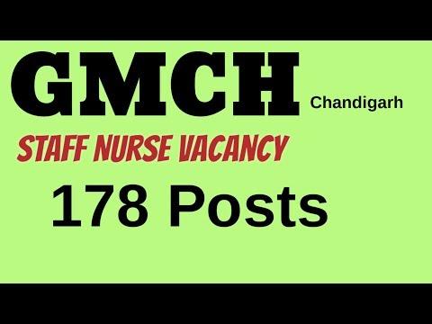 Staff Nurse Vacancy GMCH Chandigarh, 2018||  178 Posts|| Latest Staff Nurse Vacancy!