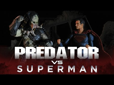 SUPERMAN VS PREDATOR - STOP MOTION