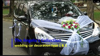 wedding car decoration type 1 & type 2