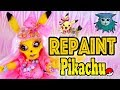 Doll Repaint: Pikachu Pokémon Collab with Dollightful and TheDollFairy