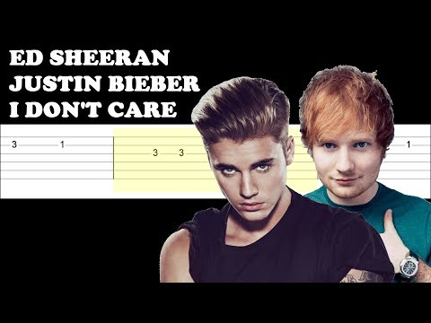 ed-sheeran,-justin-bieber---i-don't-care-(easy-guitar-tabs-tutorial)