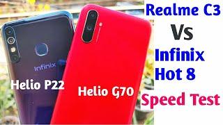 Realme C3 Vs Infinix Hot 8 Speed Test, Multitasking Comparison