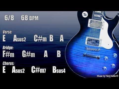 Backing Track Guitar Slow Emotional Ballad E major