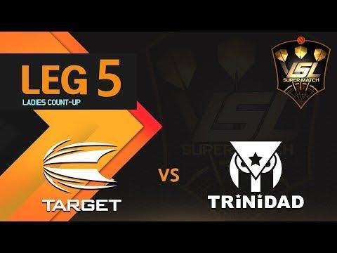 VSL Darts Super Match Week 6 - TARGET vs TRINIDAD Match 1 Leg 5 LADIES C UP (지해나 vs 성혜림)