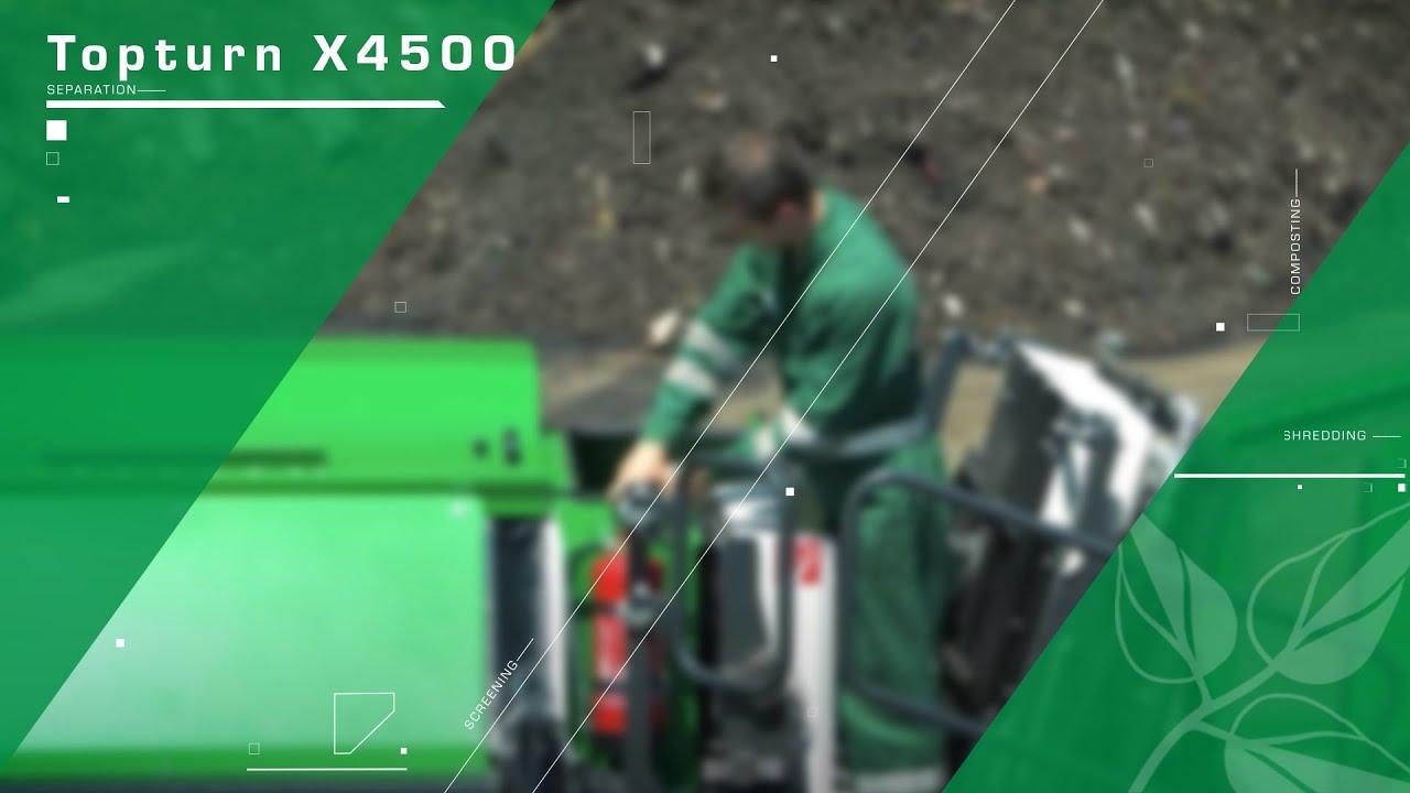 Compost turner Komptech Topturn X4500: Maintenance