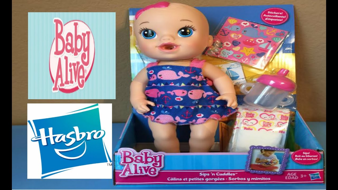 Baby Alive Sips N Cuddle Baby Doll By Hasbro Youtube