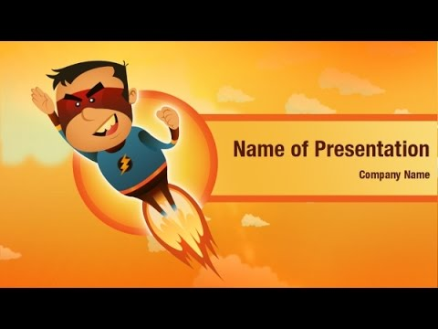 Super Hero Powerpoint Video Template Backgrounds Digitalofficepro