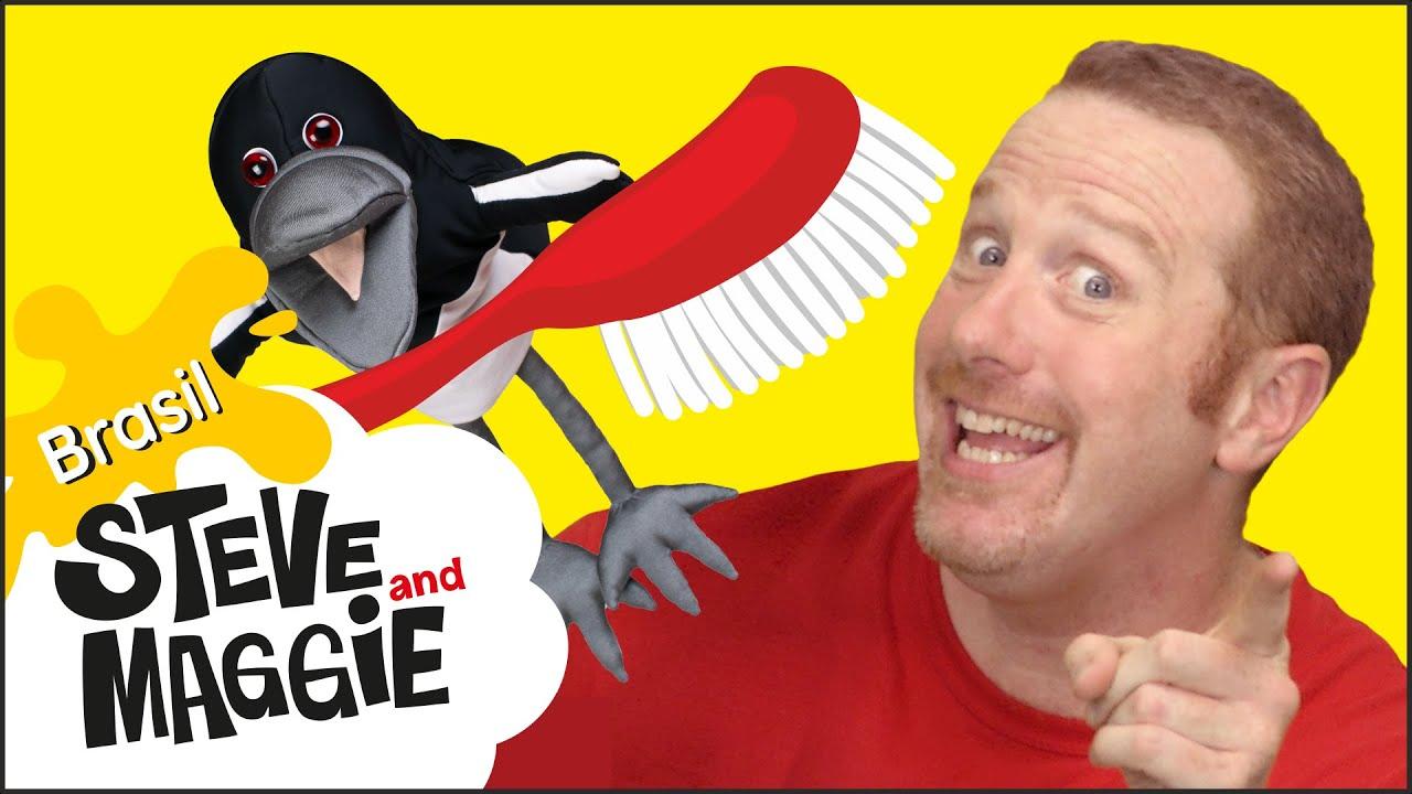 Música para Escovar os Dentes com Steve and Maggie Brasil | Escova de Dentes Mágica