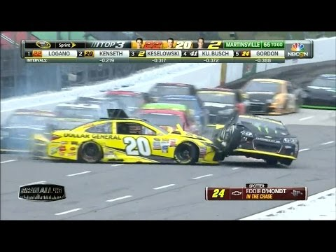 NASCAR Crashes From Martinsville , VA 10/30 - 11/1/2015 (Live) HD
