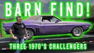 Barn Find - Three 1970's Dodge Challengers - GAS MONKEY GARAGE