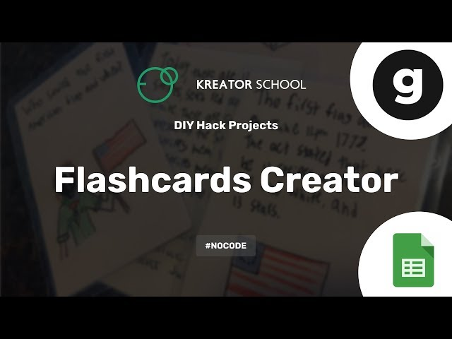 Create your own Flashcards creator app #NoCode