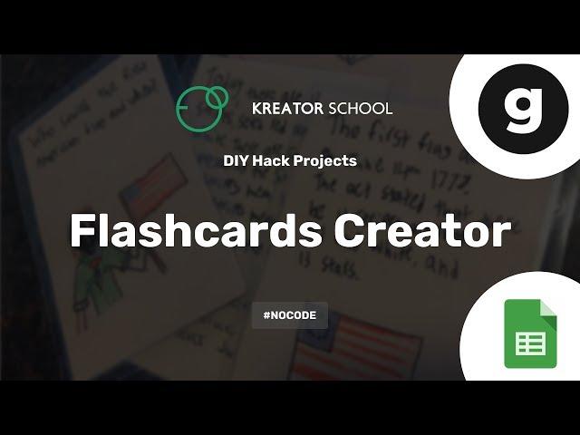 Create your own Flashcards creator app #NoCode