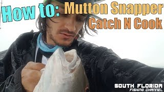 Storms, Engine Failure, Sickness Can't Stop Me   Mutton Snapper Catch N Cook